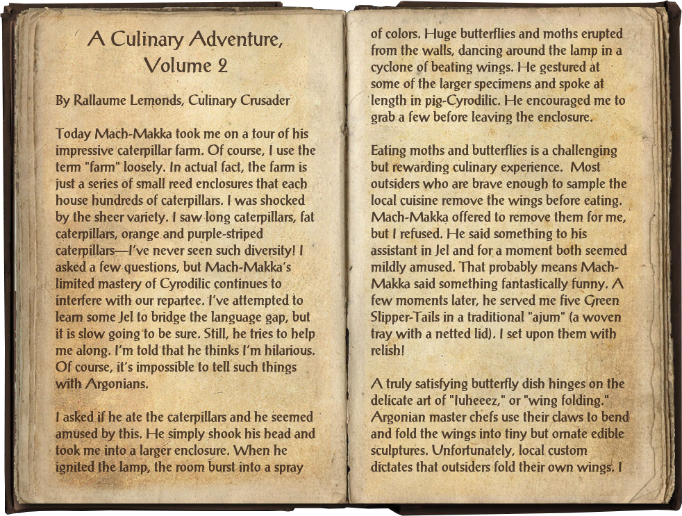 A Culinary Adventure, Volume 2