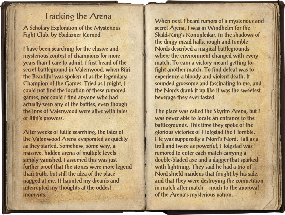 Tracking the Arena