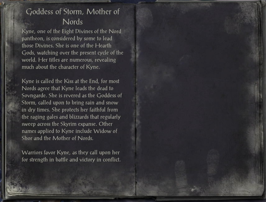 Goddess of Storm, Mother of Nords
