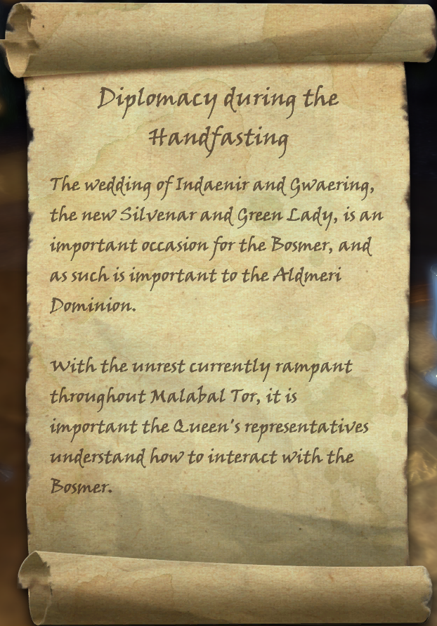 Diplomacy during the Handfasting