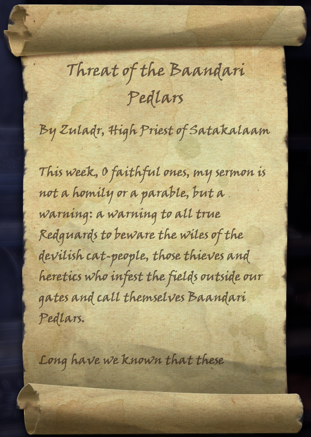 Threat of the Baandari Pedlars