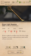Glass Light Hammer