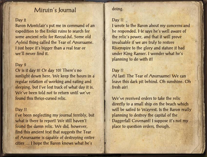Miruin's Journal