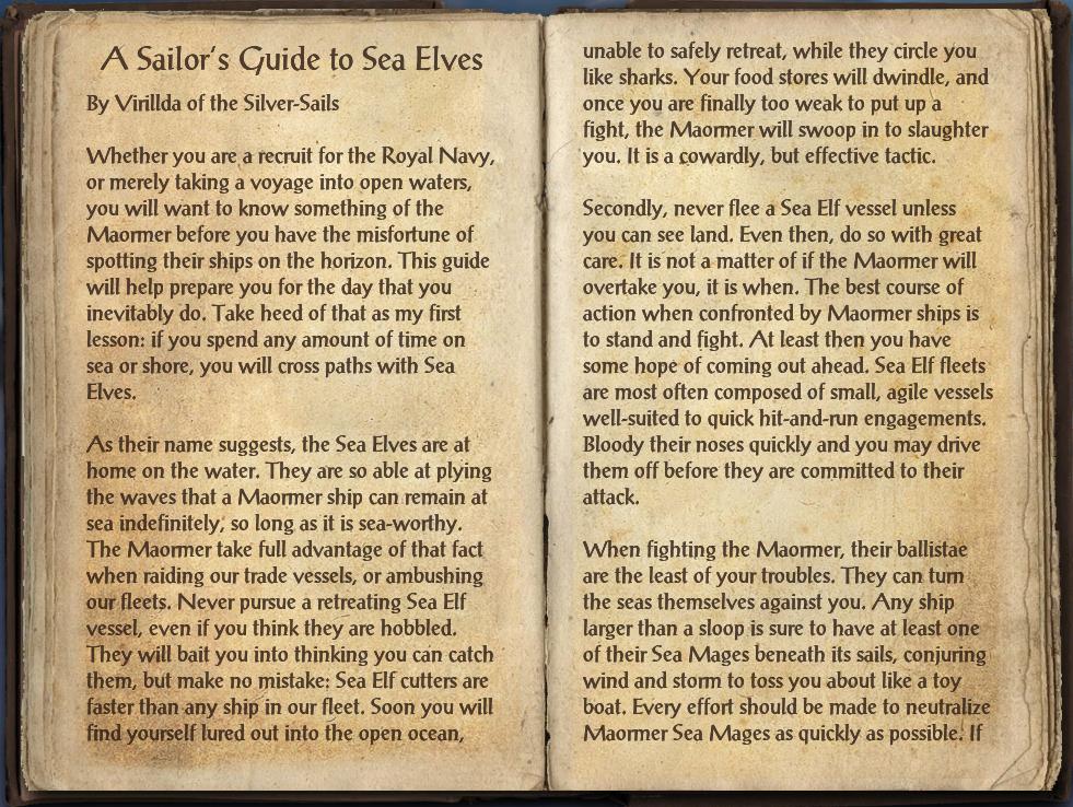 A Sailor's Guide to Sea Elves