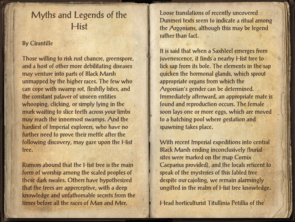 Myths and Legends of the Hist