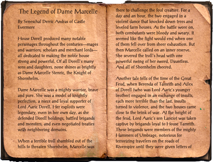 The Legend of Dame Marcelle