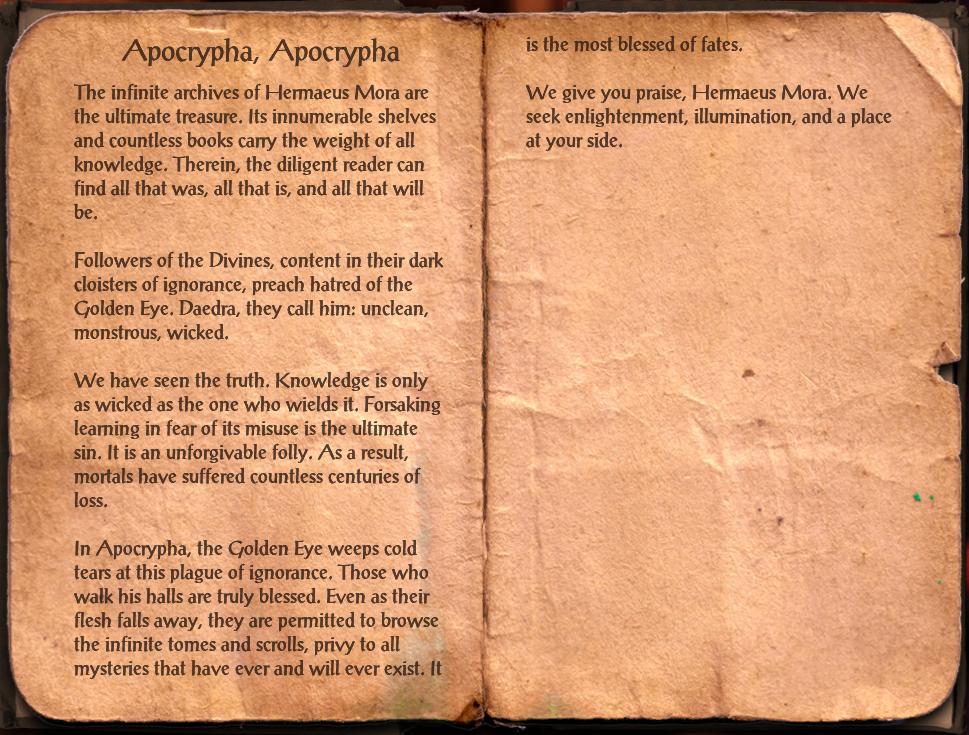 Apocrypha, Apocrypha