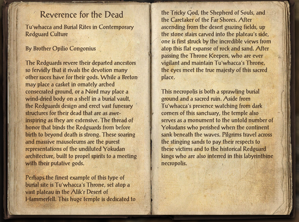 Reverence for the Dead