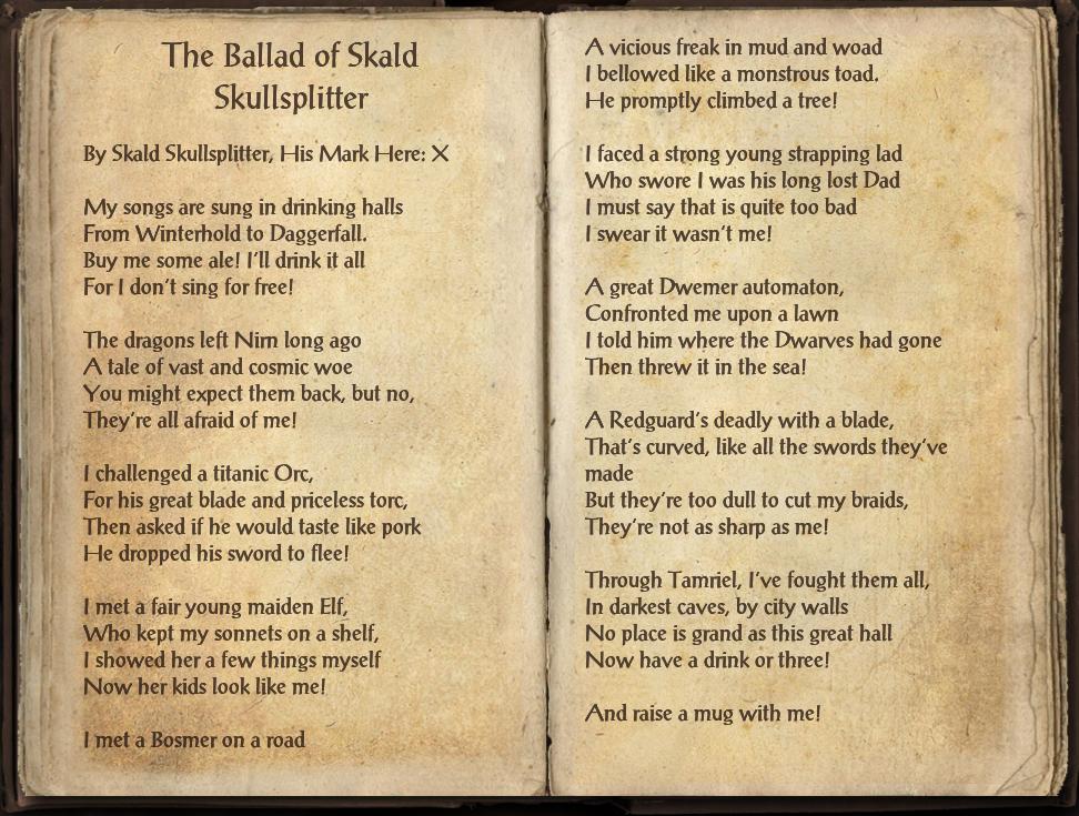 The Ballad of Skald Skullsplitter