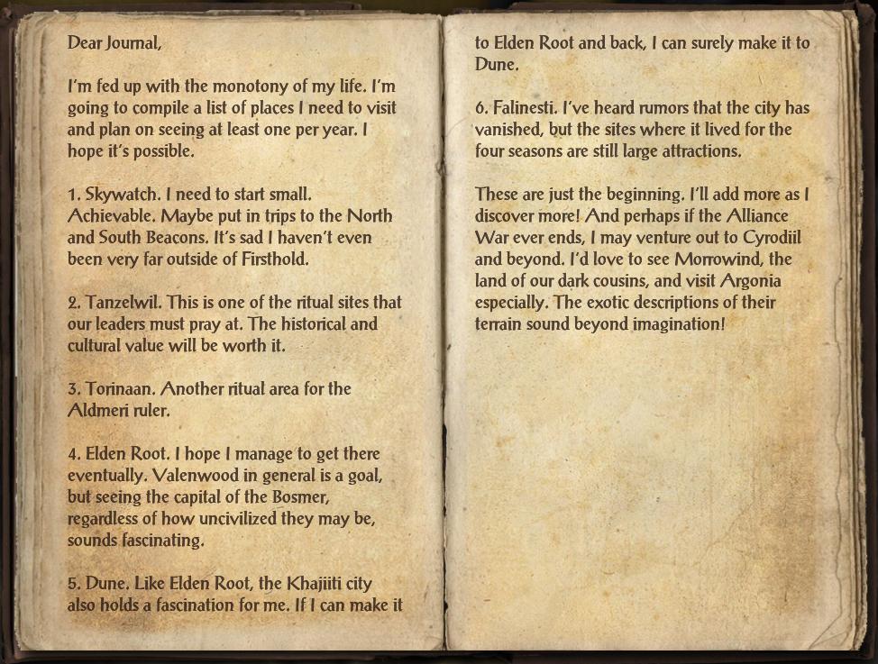 Rothondothrin's Journal