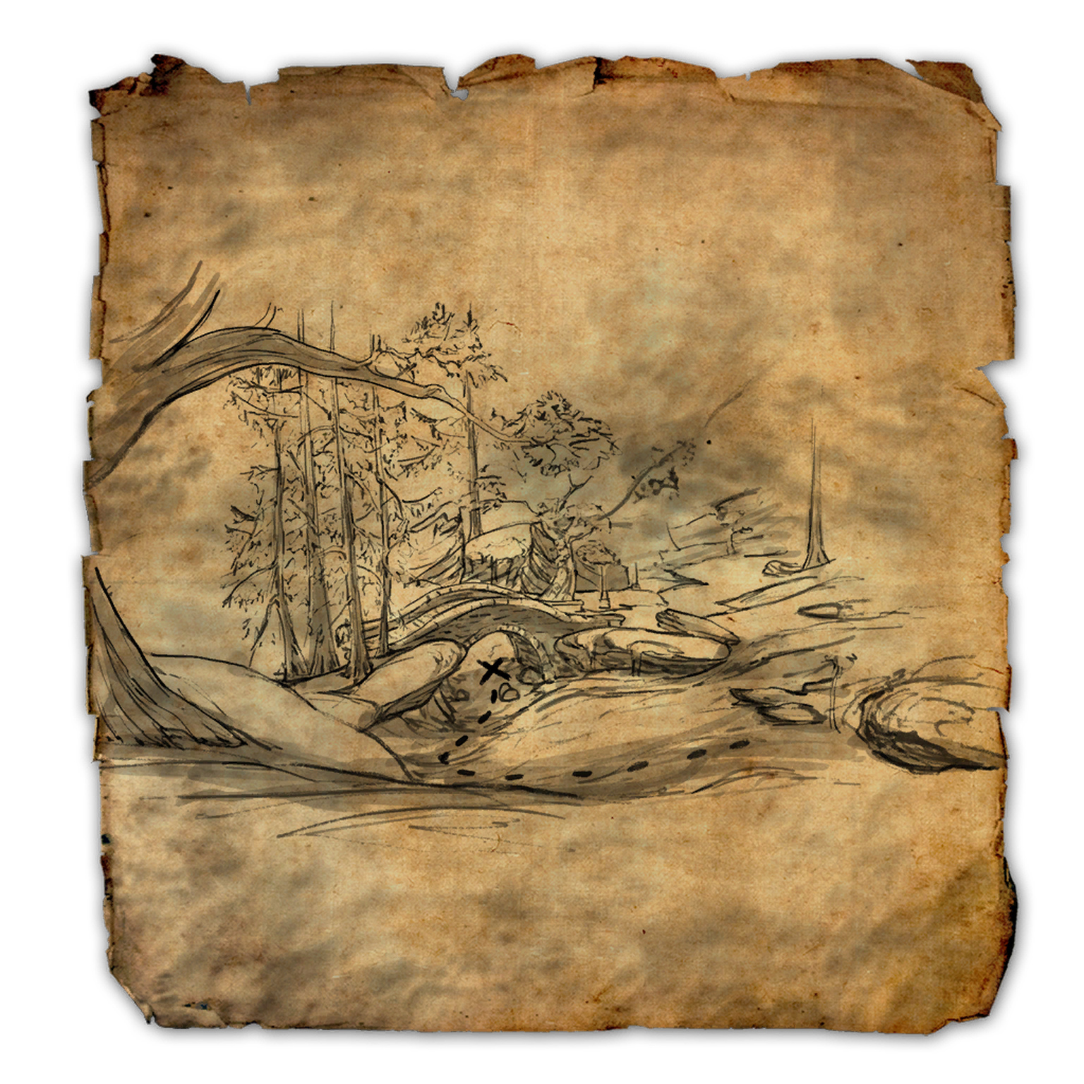 Bleakrock Isle Treasure Map I