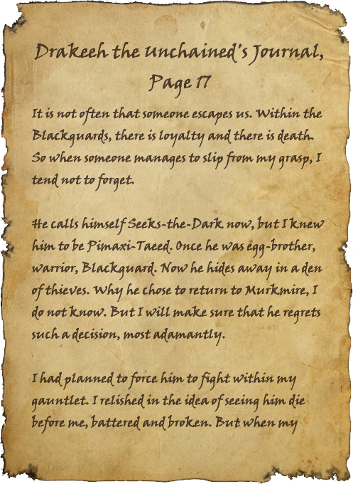 Drakeeh the Unchained's Journal, Page 17