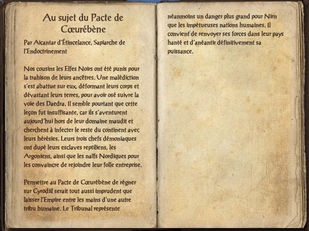 Au sujet du Pacte de Cœurébène
