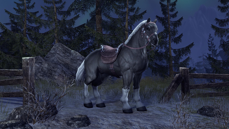 White Mane Horse