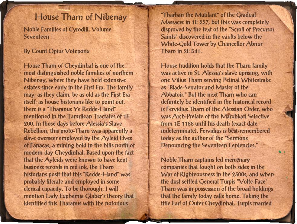 House Tharn of Nibenay
