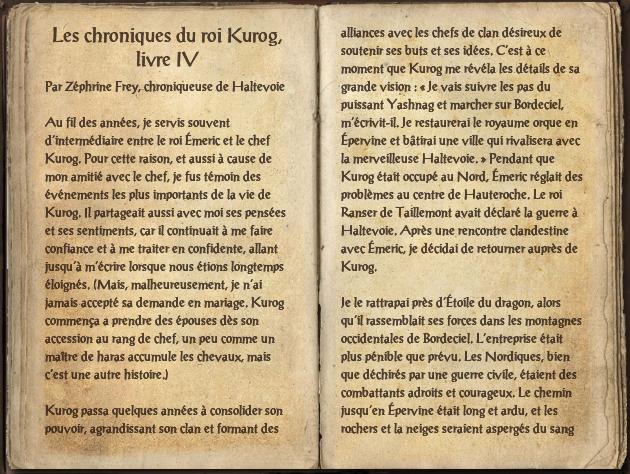 Les chroniques du roi Kurog, livre IV