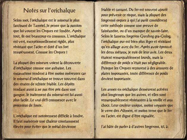 Notes sur l'orichalque