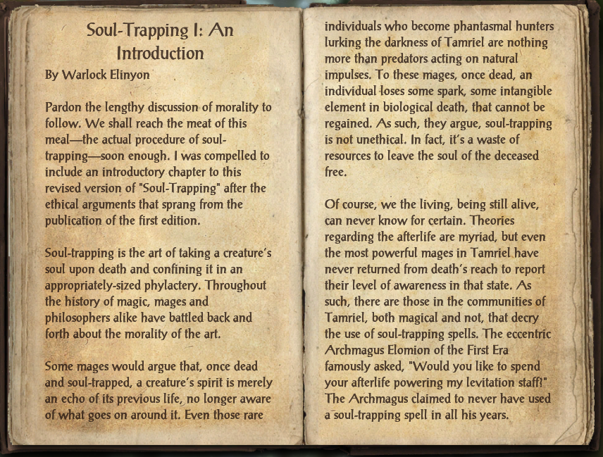 Soul-Trapping I: An Introduction