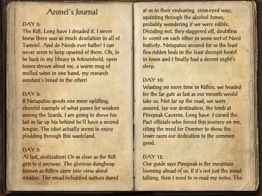 Aronel's Journal