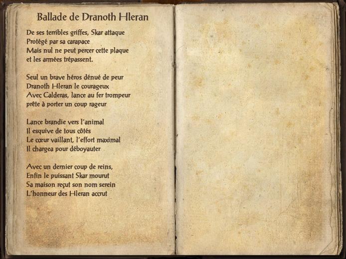 Ballade de Dranoth Hleran