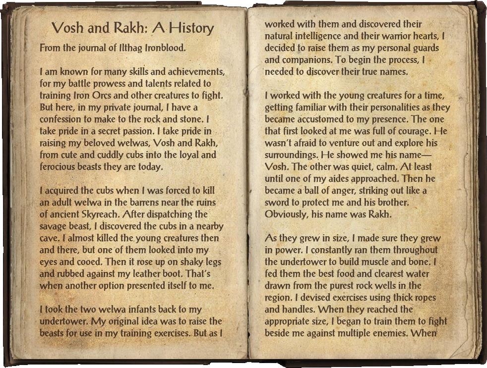 Vosh and Rakh: A History