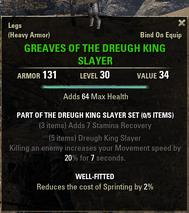 Dreugh King Slayer - Greaves 30