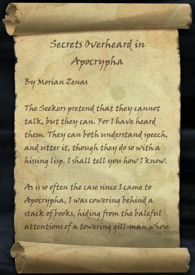Secrets Overheard in Apocrypha