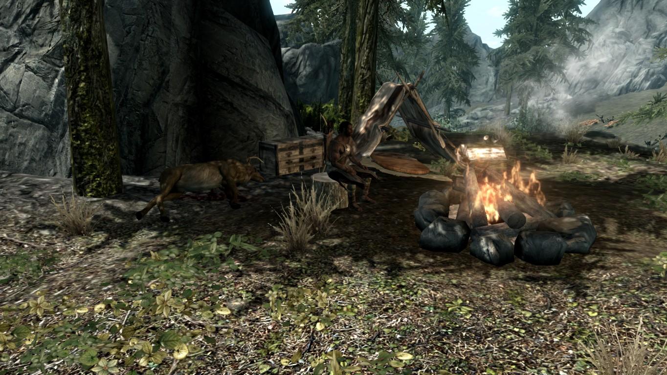 Лагерь охотника — Разделённое ущелье