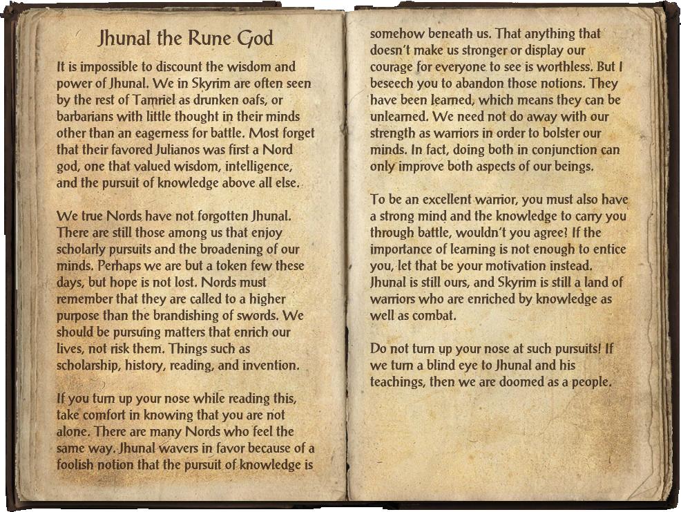 Jhunal the Rune God