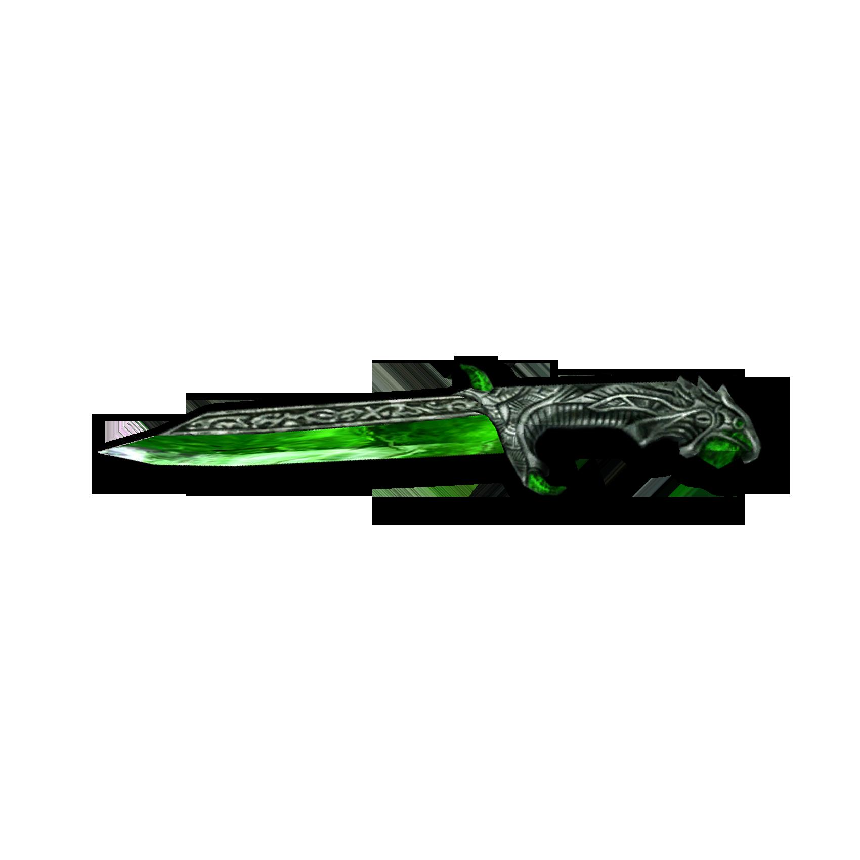 Стеклянный метательный нож (Morrowind)