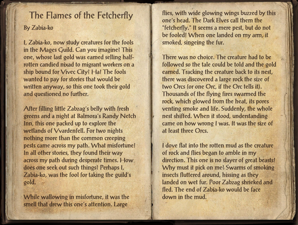 The Flames of the Fetcherfly