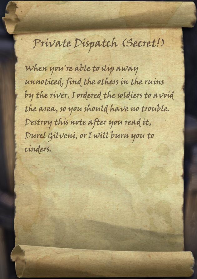 Private Dispatch (Secret!)