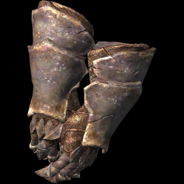 Тяжёлые хитиновые перчатки (Dragonborn)