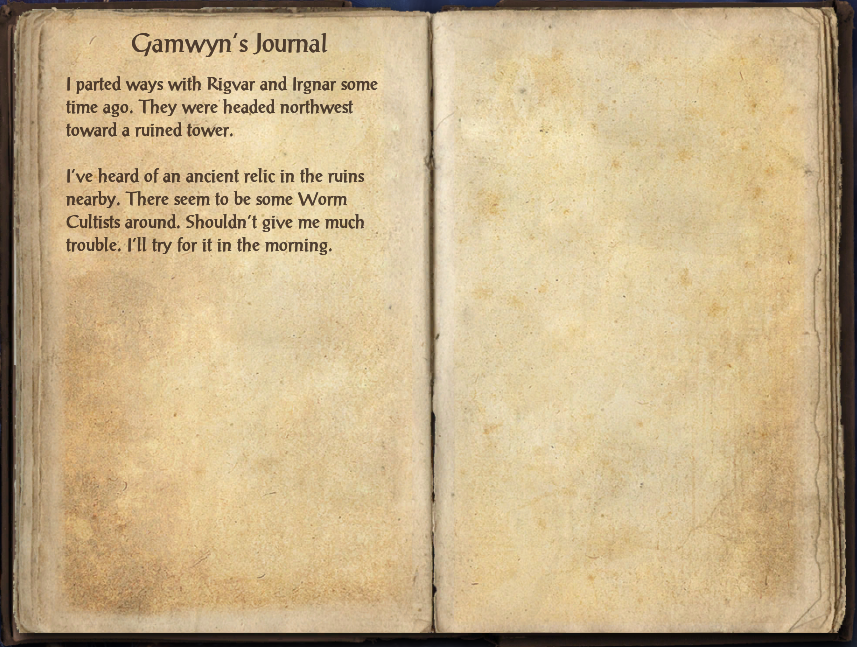 Gamwyn's Journal