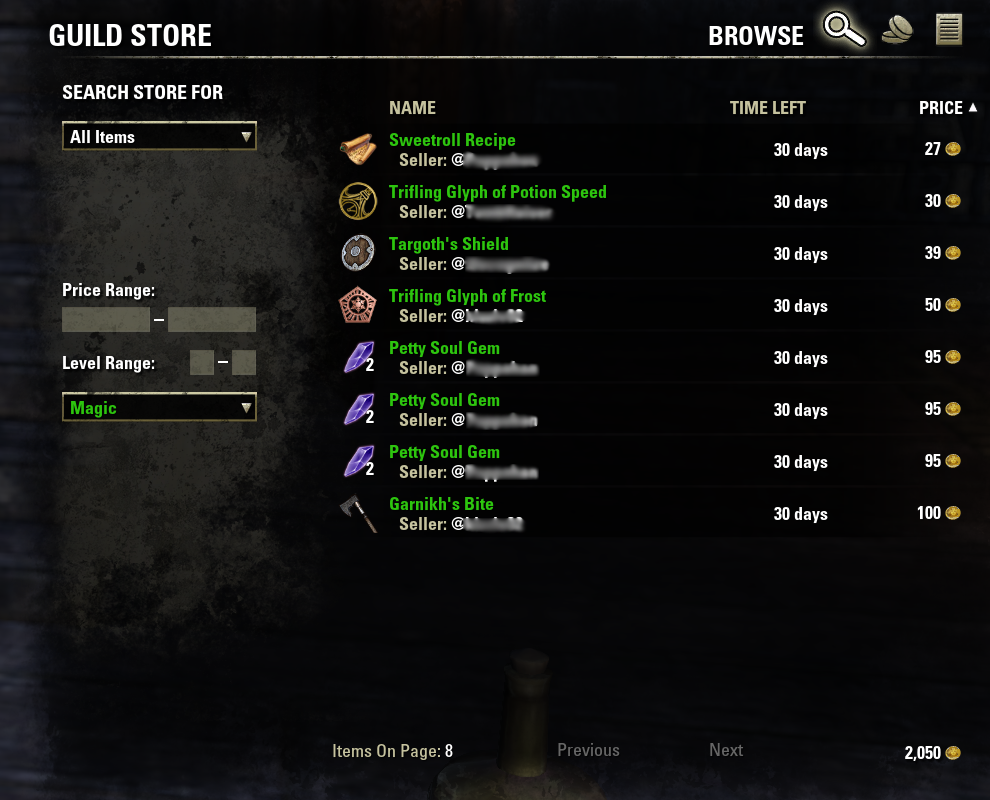 Guild Trading