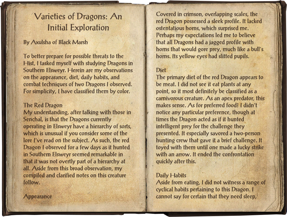 Varieties of Dragons: An Initial Exploration