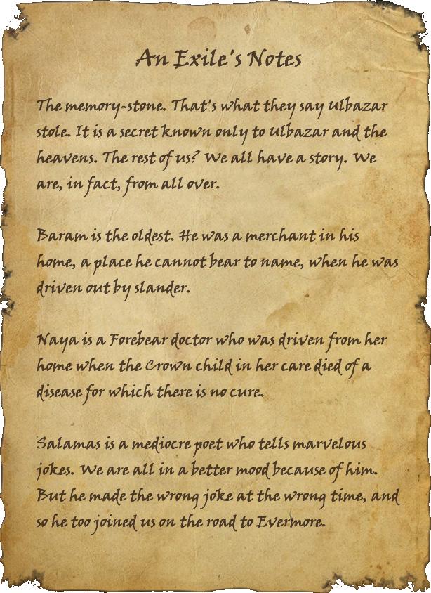 An Exile's Notes