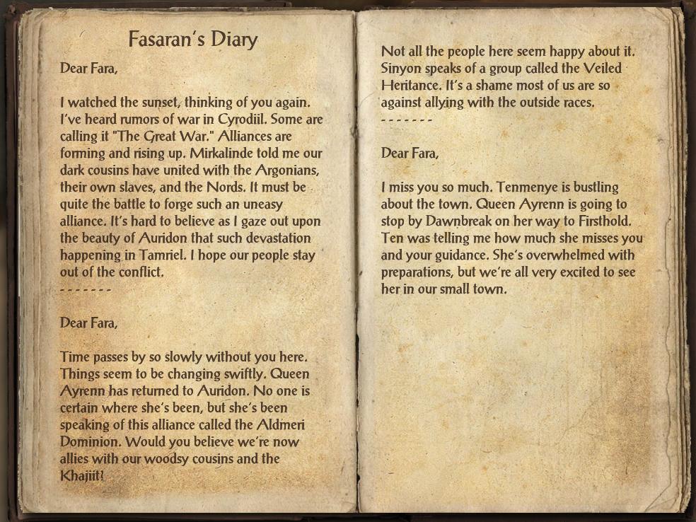 Fasaran's Diary