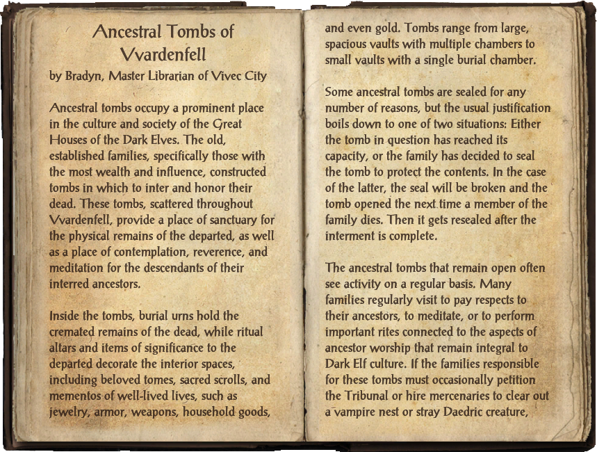 Ancestral Tombs of Vvardenfell