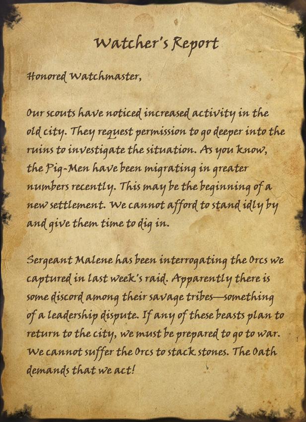 Watcher's Report