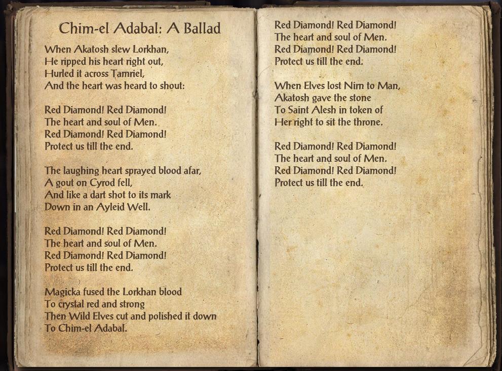 Chim-El Adabal: A Ballad