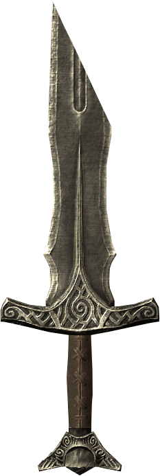 Broken Steel Sword Handle