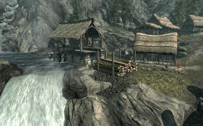 Campamento maderero del Puente del Dragón