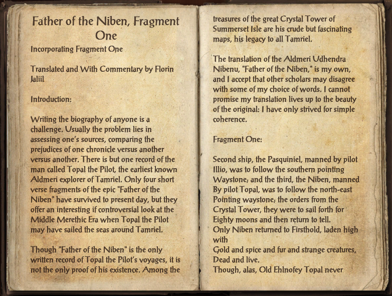 Father of the Niben, Fragment One