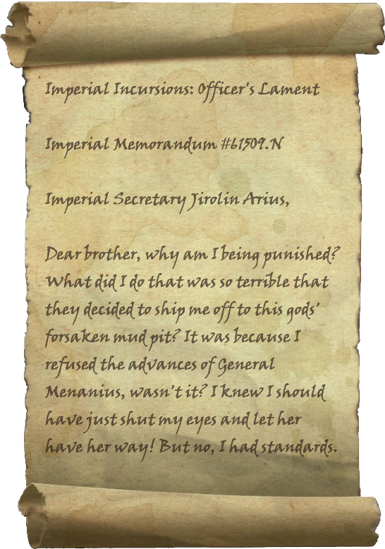 Imperial Incursions: Officer's Lament