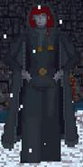 Kobieta z Morrowind podczas zimy (Arena)