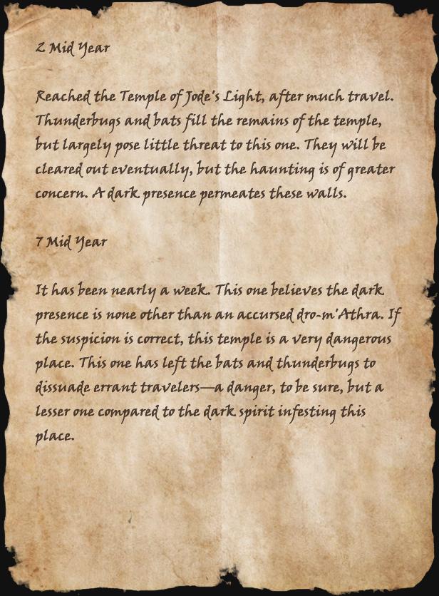 Second Khajiiti Journal Page