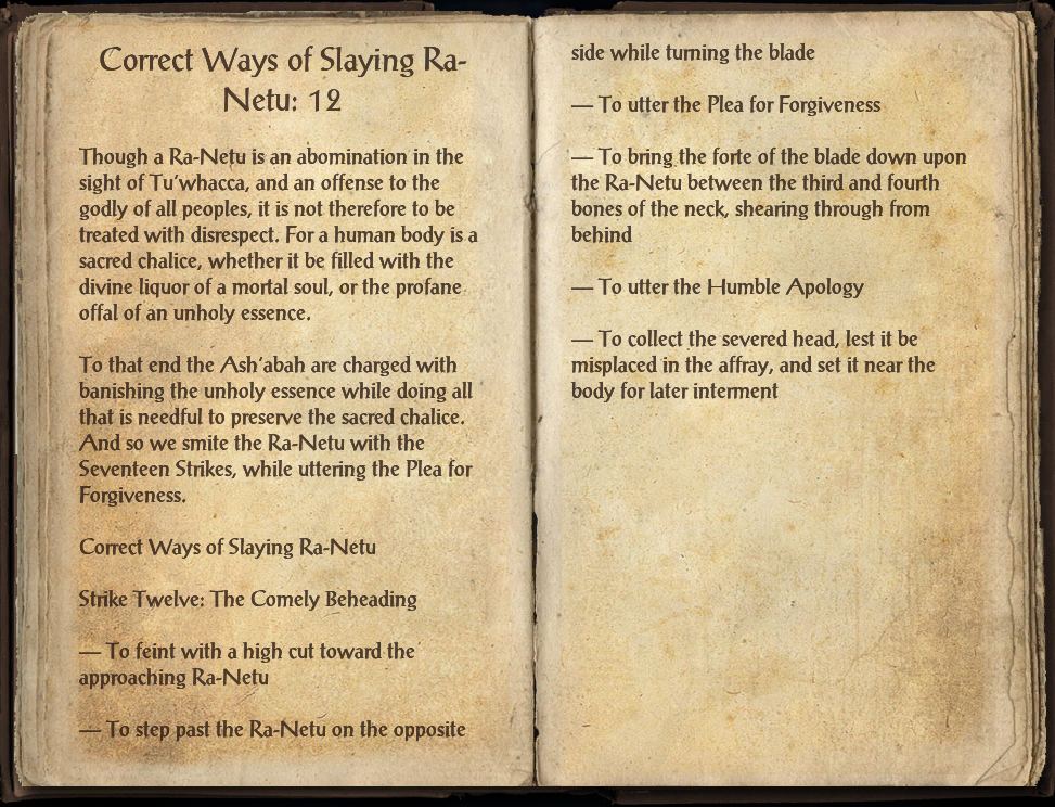 Correct Ways of Slaying Ra-Netu: 12