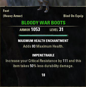 Bloody War Boots