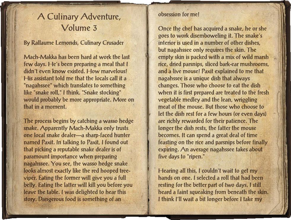 A Culinary Adventure, Volume 3